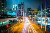 Long exposure of traffic on Howard Street at night, in San Franc