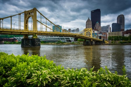 The Rachel Carson Bridge over the Allegheny River in Pittsburgh,