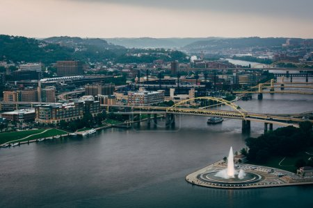 View of Point State Park and the Allegheny River in Pittsburgh,