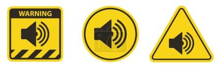Illustration pour Icône de haut-parleur sonore sur fond blanc - image libre de droit
