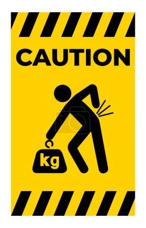 Illustration pour Signe de symbole de danger de levage, Illustration vectorielle, Isoler sur l'étiquette de fond blanche .EPS10 - image libre de droit