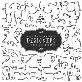 Decorative curls and swirls Designers collection Hand drawn illustration Design elements