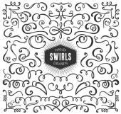 decorative curls and swirls