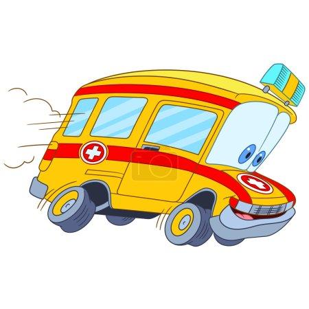 cute cartoon ambulance car
