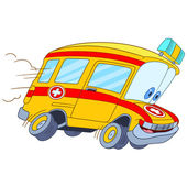cute cartoon ambulance car