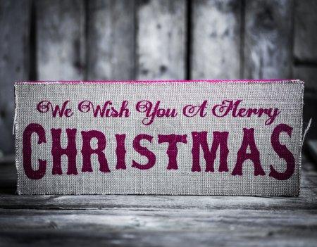 décorations de Noël sur fond en bois