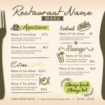 Restaurant Placemat Menu Design Template Layout...