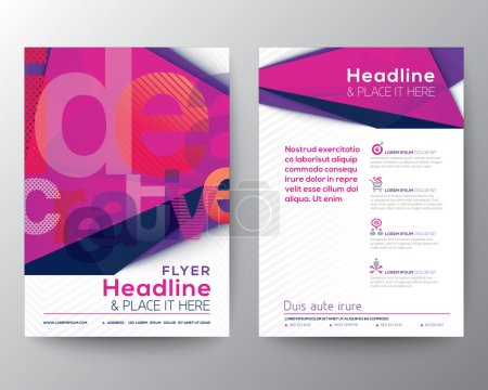 Illustration for Abstract Triangle Brochure Flyer design Layout template in A4 size - Royalty Free Image