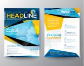 Abstract Triangle design vector template layout for magazine bro