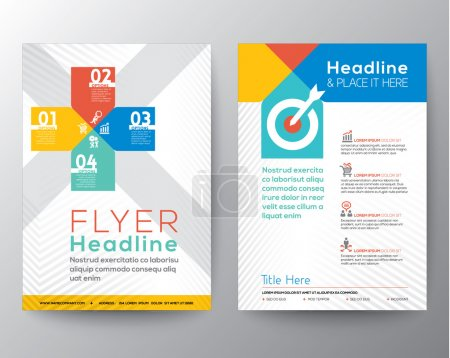 Illustration for Brochure Flyer graphic design Layout vector template in A4 size - Royalty Free Image