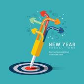 Nový rok řešení koncepce ilustrace