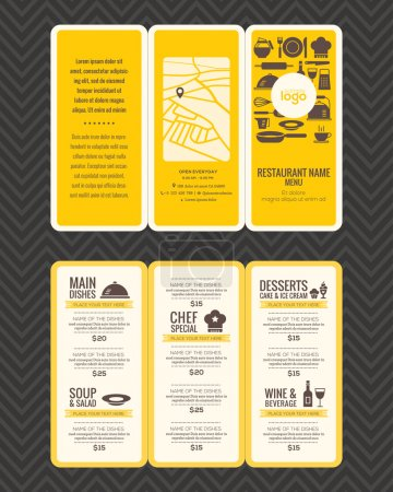 Modern Restaurant menu design pamphlet template
