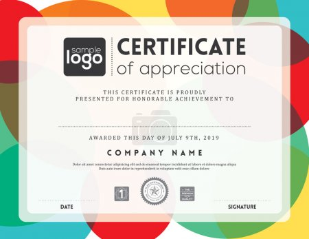 Illustration for Modern certificate background frame design template - Royalty Free Image