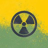 Radioactive vector symbol
