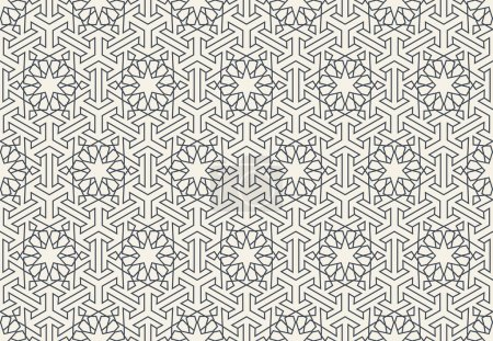 Illustration for Abstract seamless geometric islamic wallpaper pattern for your design - Royalty Free Image