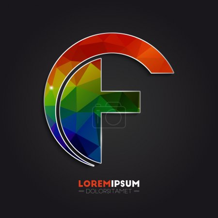Letter F logo design