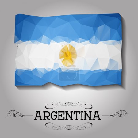 Vector geometric polygonal Argentina flag.