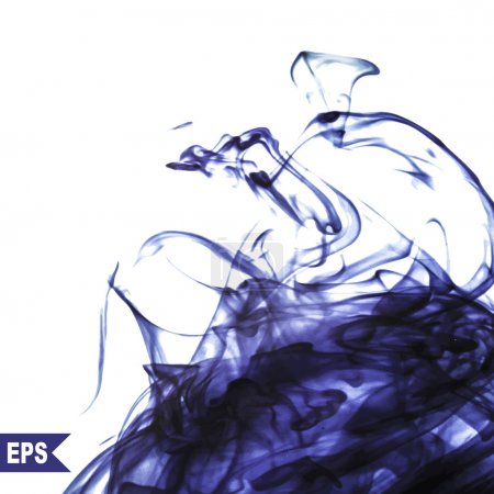 Vector abstract violet cloud. Ink swirling in water, clouds of ink isolated. Abstract banner paints.