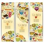 Постер, плакат: Banner templates vector collection Tea party