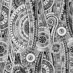 Original mosaic drawing tribal doddle ethnic patte...