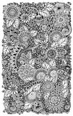Ethnic floral retro zentangle doodle background pattern circle in vector