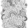 Doodle background in vector with doodles, flowers ...