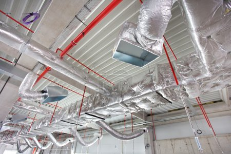 air conditioning and fire fighting system