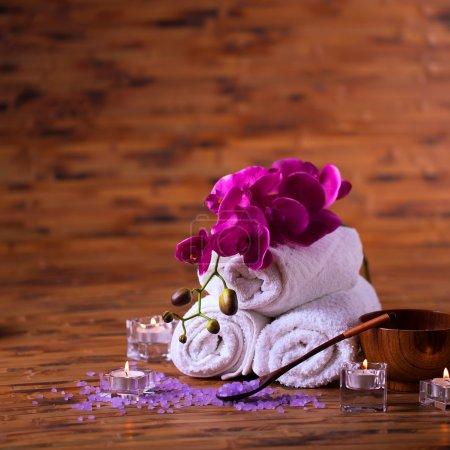 Foto de Todavía para tratamientos de spa, cuidado corporal - Imagen libre de derechos