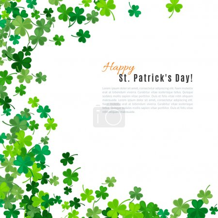 St Patricks Day background. Vector illustration