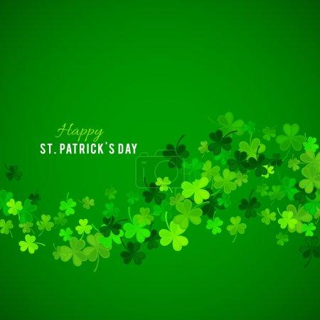 Fond St Patricks Day. Illustration vectorielle