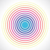 Concentric circle elements Vector illustration for sound