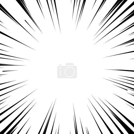Bande dessinée manga flash fond lignes radiales explosion