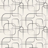 Abstract geometric line and square seamless pattern Vector