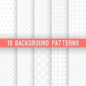 Light grey seamless patterns for universal background Vector illustration