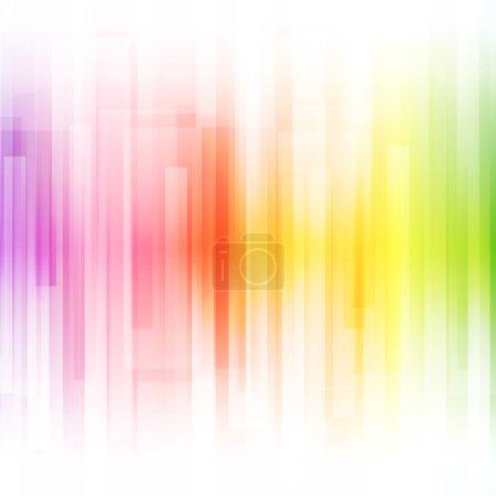 Illustration pour Fond lumineux abstrait. Illustration vectorielle pour un design moderne. Spectre couleurs arc-en-ciel. Modèle de bordure à rayures. Invitation ou conception de carte de vœux. dégradé papier peint coloré avec de l'espace pour - image libre de droit