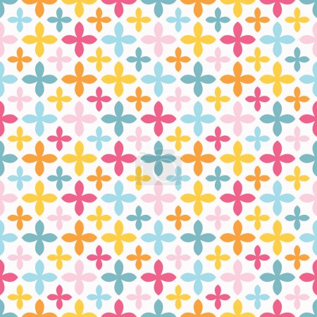 Bright vector seamless pattern. Endless texture