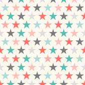 Retro colorful star seamless pattern Vector illustration for holiday kid background Bright wallpaper Mosaic baby style