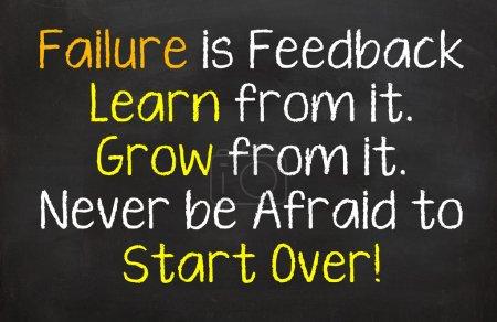 Failure is Feedback to Grow