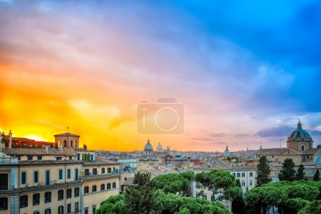Extraordinary sunset in Rome