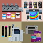 Digital print machine set