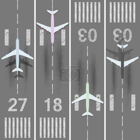 Jeu de pistes d'aéroport