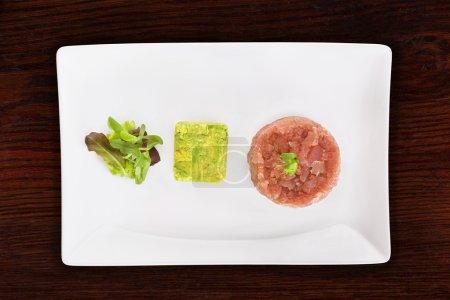 Luxurious salmon tartare.