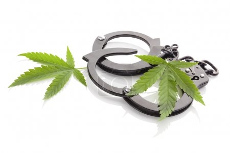 Marijuana and handcuffs.