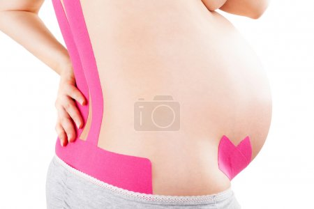 Kinesio tape on pregnant.