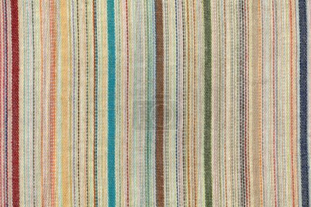 Photo pour Ancienne texture de tissu rayé coloré - image libre de droit