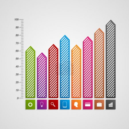 Modern business charts and graphs options banner for infographics or presentations. Vector illustration.
