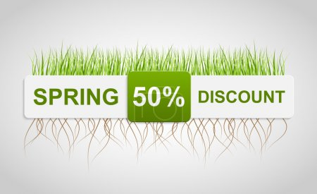 Spring Sale Discount. Banner Template. Vector illustration.