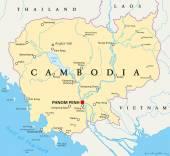 Cambodia Political Map