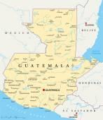Politická mapa Guatemaly