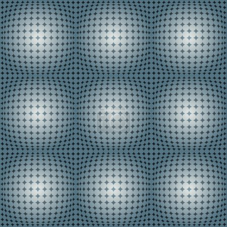 Dotted Grid With Spherical Shapes.